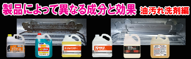 キッチン・厨房の油汚れ用洗剤 比較
